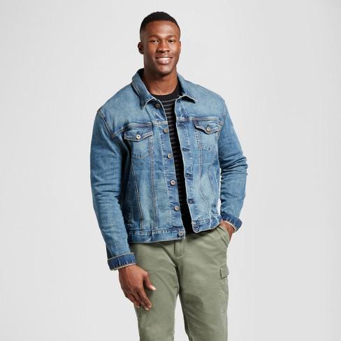929af5556fe3 Men s Big   Tall Standard Fit Denim Trucker Jacket - Goodfellow   Co™ Blue