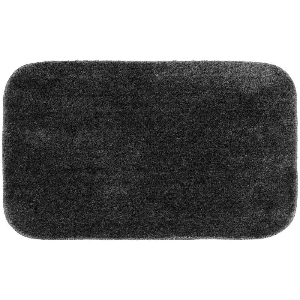 "Image of ""24""""x40"""" Traditional Plush Washable Nylon Rug Dark Gray - Garland, Size: 24""""x40"""""""
