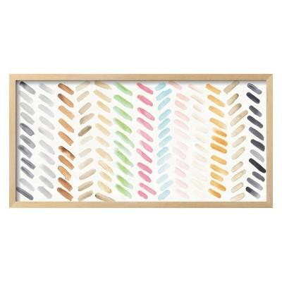 Watercolor Swipes By Elyse DeNeige Framed Wall Art Poster Print 31 x16  - Art.com