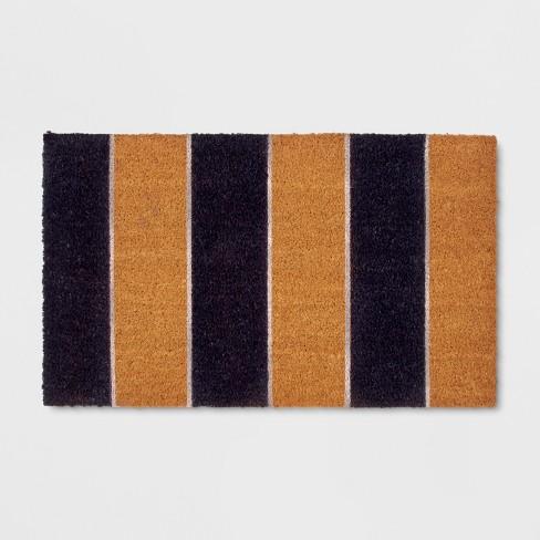 """18"""" x 30"""" Cabana Stripe Outdoor Doormat Navy - Threshold™ - image 1 of 2"""
