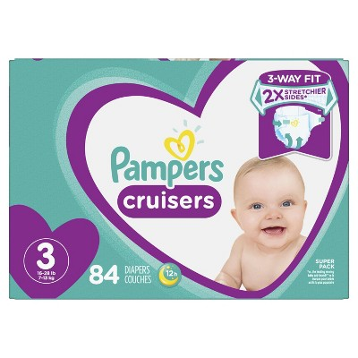 Pampers Cruisers Diapers Super Pack - Size 3 (84ct)