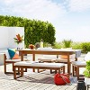 Kaufmann Wood Patio Bench - Linen - Project 62™ - image 2 of 4