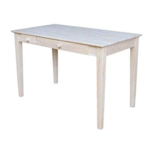 Computer Desk With Flip Down Drawer, Unfinished Furniture Desk