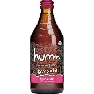 Humm Hopped Raspberry Low Sugar Kombucha - 14 fl oz