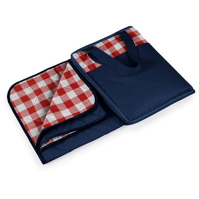 Picnic Time Vista Blanket - Red Check with Navy
