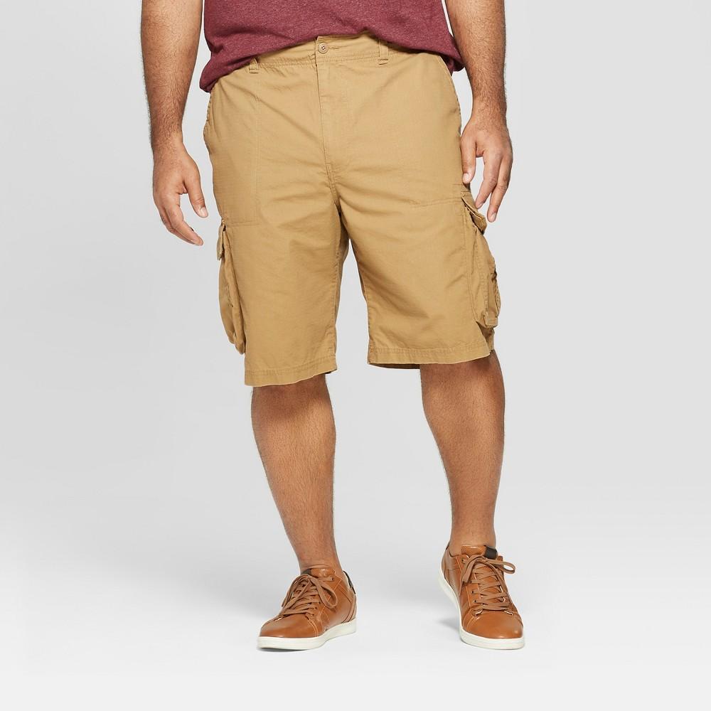 Men's Big & Tall 11 Cargo Shorts - Goodfellow & Co Brown 50, Dapper Brown