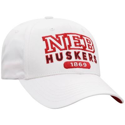 NCAA Nebraska Cornhuskers Men's White Twill Structured Snapback Hat