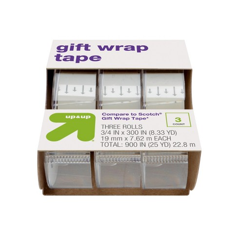 Gift Wrap Tape 3ct (Compare to Scotch® Gift Wrap Tape) - Up&Up™ - image 1 of 3