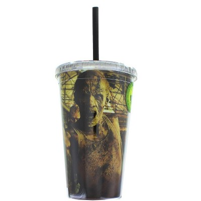 Just Funky The Walking Dead Zombies 16oz Carnival Cup w/ Straw & Lid