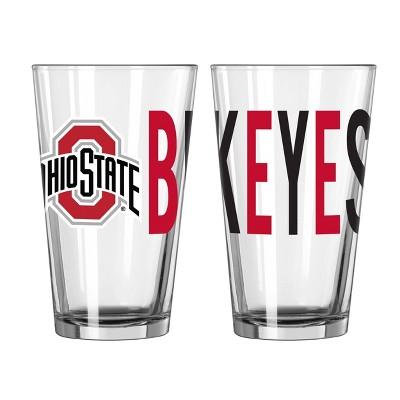 NCAA Ohio State Buckeyes Overtime Pint Glass - 16oz