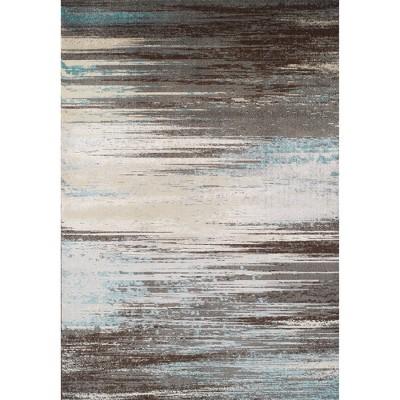 9'6 X13' Gray Multi Stripe Woven Area Rug - Addison Rugs