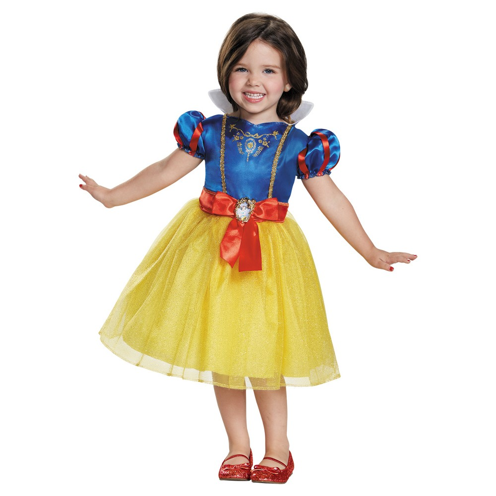 Girls' Snow White Toddler Classic Costume 3t-4t, Multicolored
