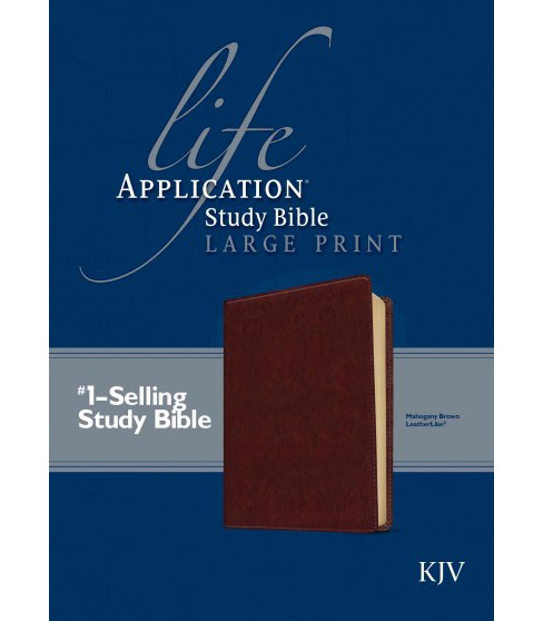 Life Application Study Bible : King James Version, Mahogany Brown, LeatherLike (Paperback) - image 1 of 1