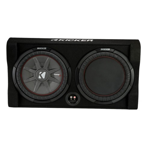"""Kicker 47TRTP82 8"""" CompRT Shallow Down-Firing Subwoofer 2-Ohm Enclosure with Passive Radiator - image 1 of 4"""
