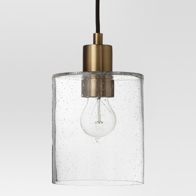 Hudson Industrial Pendant Ceiling Light Brass Includes Energy Efficient Light Bulb - Threshold™
