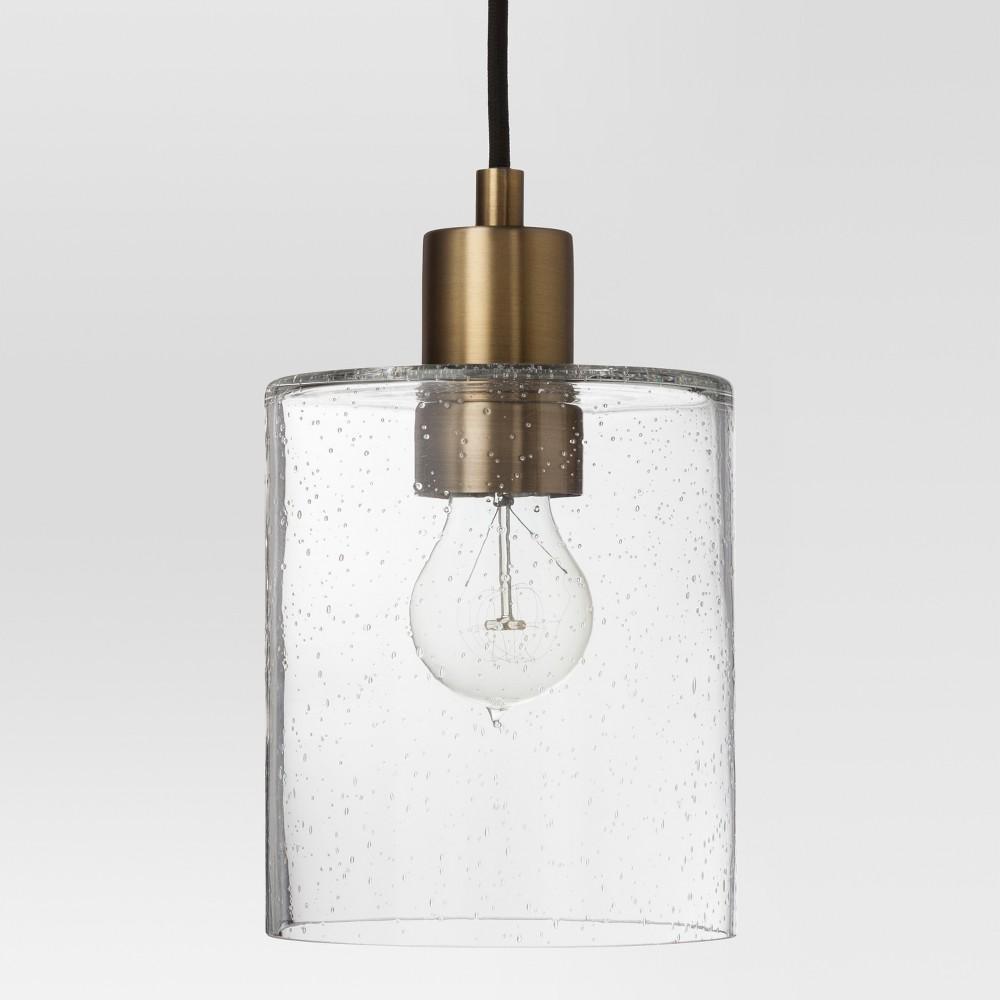 Hudson Industrial Pendant Ceiling Light Brass Includes Energy Efficient Light Bulb - Threshold