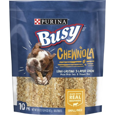 Purina Busy Beef, Chewnola with Oats and Brown Rice Dry Dental Dog Treats