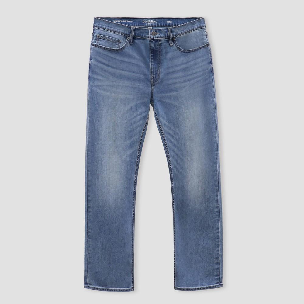 Men 39 S Athletic Fit Jeans Goodfellow 38 Co 8482 Light Blue 40x32