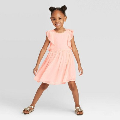 OshKosh B'gosh Toddler Girls' Short Sleeve Chiffon Dress - Pink 12M