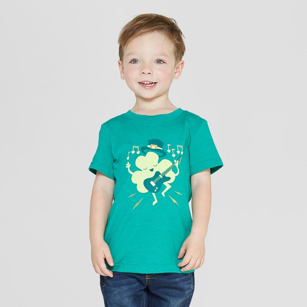 2441d29b Toddler Boys Short Sleeve St Patricks Day Shamrocker T Shirt Cat Jack Green  18M