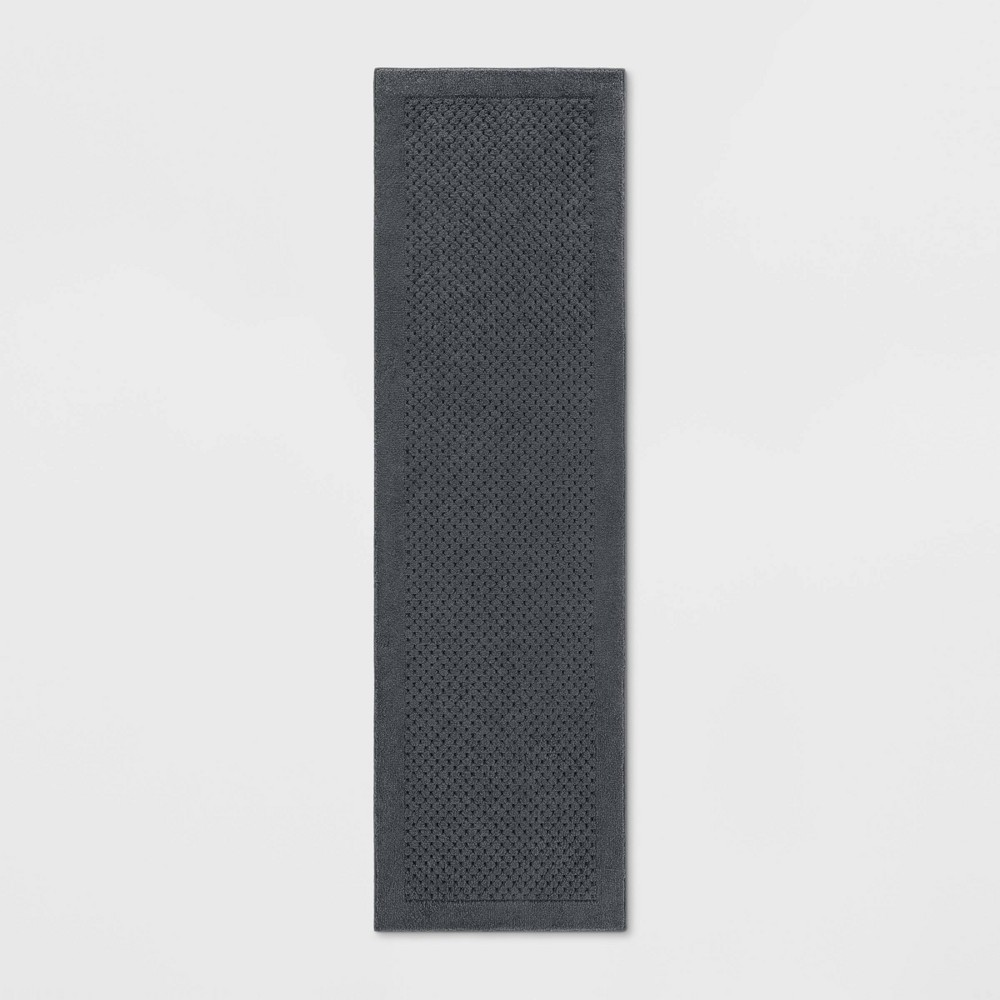 2'X7' Basket Weave Solid Tufted Runner Rug Gray - Made By Design