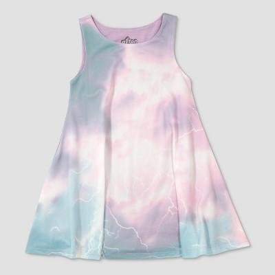 Toddler Girls' Afton Street Ombre Lightning Scuba A Line Dress - 12M
