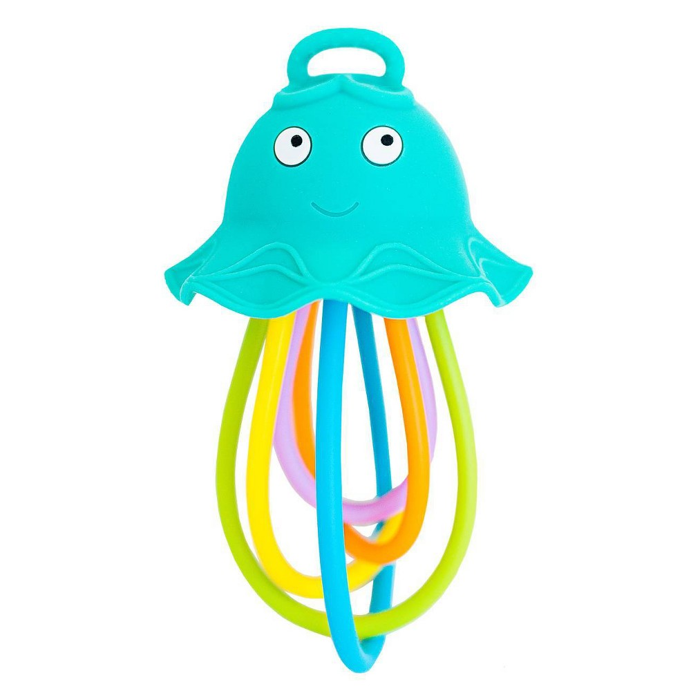 Image of Baby Banana Lil' Squish Jellyfish Sensory Rattle & Teething Toy