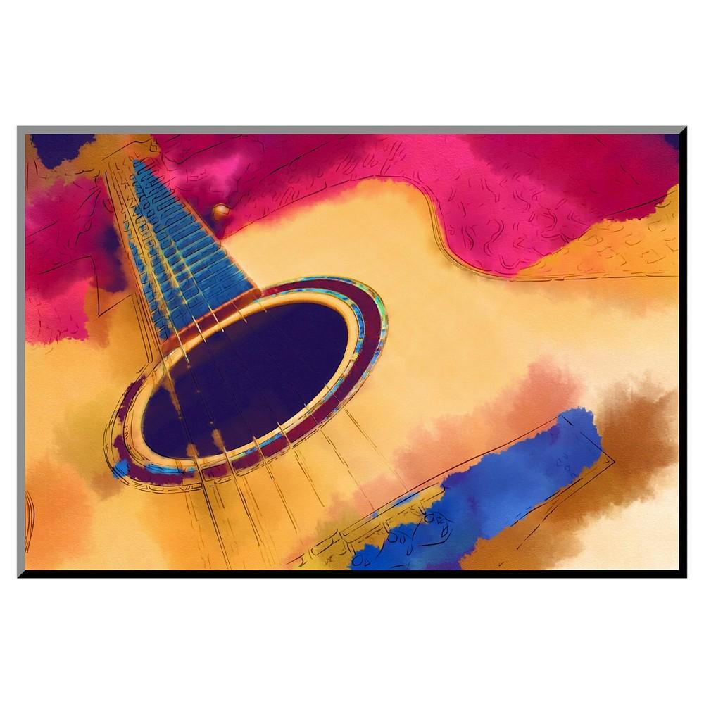 Art.com Decorative Wall Panel Guitar - Pink