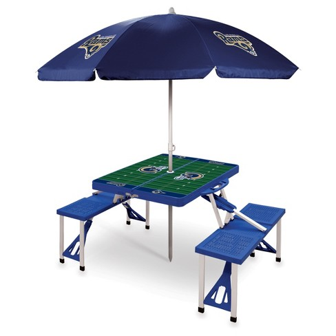 NFL Los Angeles Rams Picnic Table Sport with Umbrella by Picnic Time - Blue - image 1 of 1