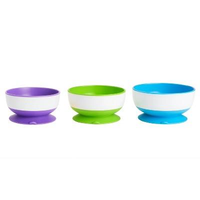 Munchkin 3pk Stay-Put Suction Bowls