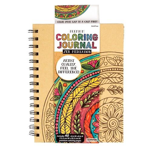 Premium Coloring Journal - Zen Mediation - image 1 of 3