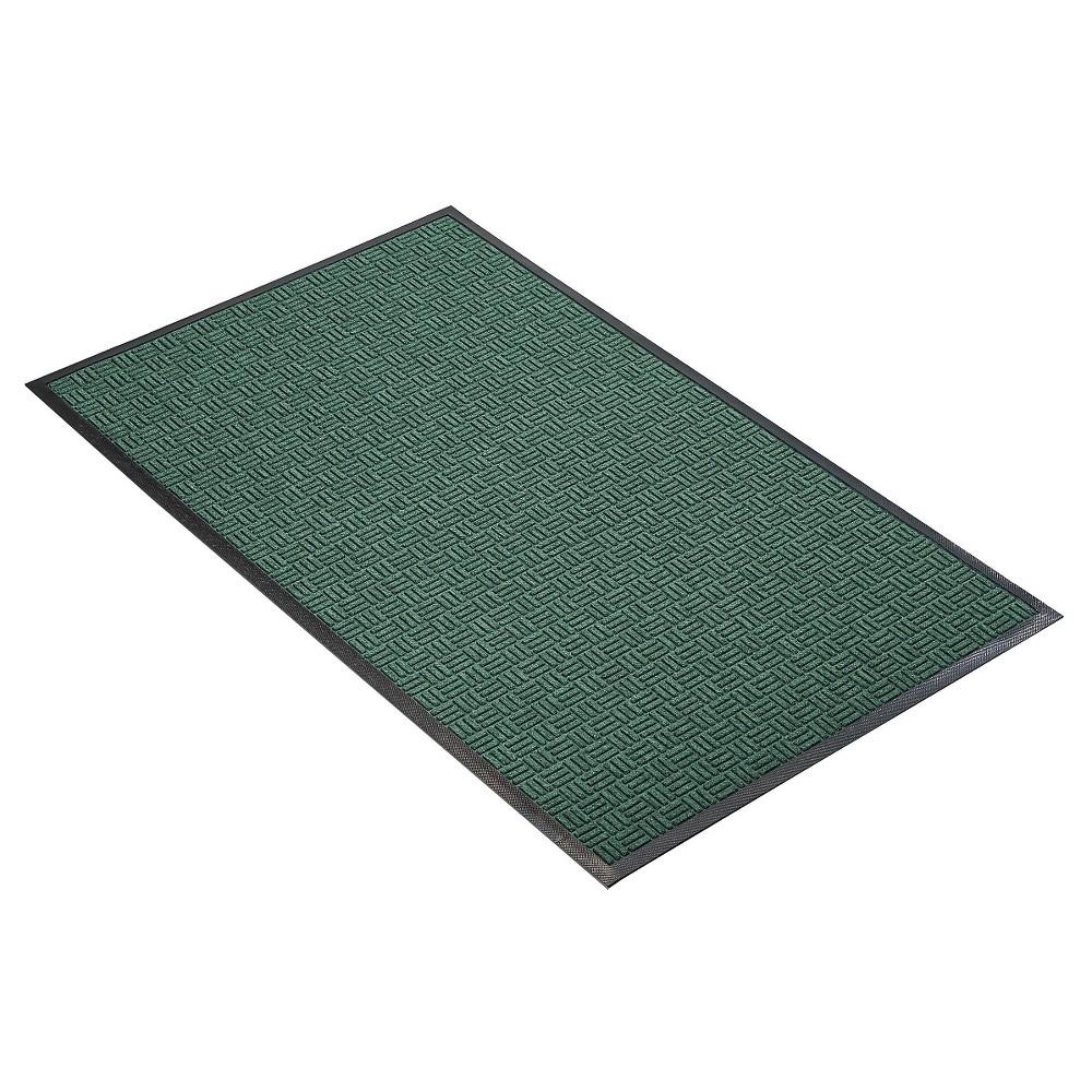 Hunter Green Solid Doormat - (3'X5') - HomeTrax