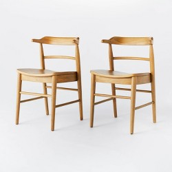 2pk Kaysville Curved Back Wood Dining Chair - Threshold™ designed with Studio McGee