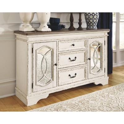Incroyable Realyn Dining Room Server Chipped White   Signature Design By Ashley