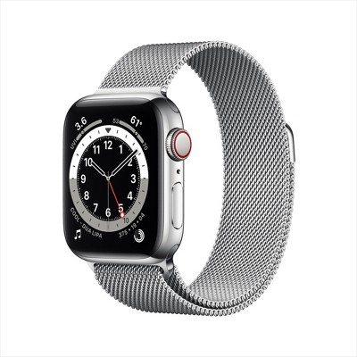 Apple Watch Series 6 GPS + Cellular Stainless Steel with Milanese Loop