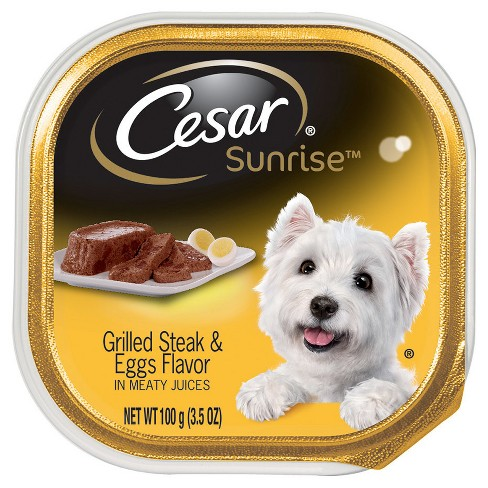 CESAR® Sunrise Grilled Steak and Eggs Flavor Breakfast Wet Dog Food - 3.5oz tray - image 1 of 1