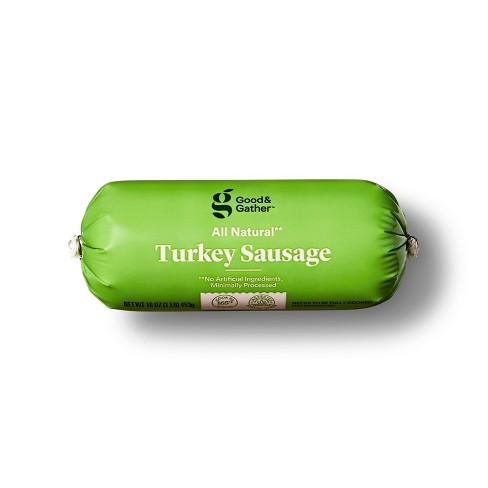 All Natural Turkey Sausage Roll - 16oz - Good & Gather™ - image 1 of 3