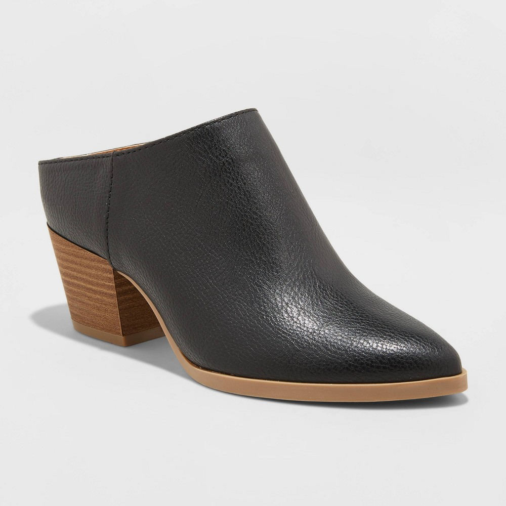 Women's Makana Faux Leather Heeled Mules - Universal Thread Black 11 was $37.99 now $24.69 (35.0% off)