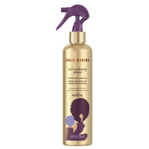 Gold Series From Pantene Awakening Spray With Argan Oil For Curly Coily Hair 8 4 Fl Oz Target