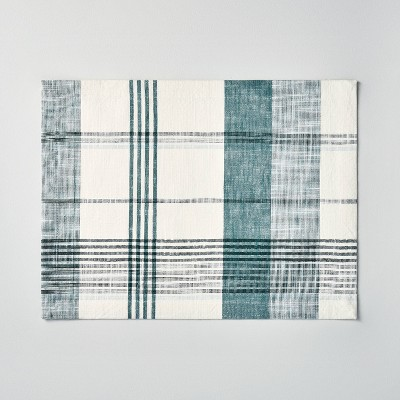 Plaid Placemat Green/Cream - Hearth & Hand™ with Magnolia