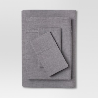 Chambray Sheet Set (Queen)Gray - Threshold™