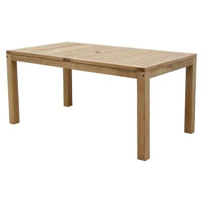 Holmes 5 Piece Teak Rectangular Patio Dining Furniture Set : Target