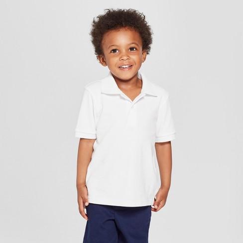 Toddler Boys' Short Sleeve Interlock Uniform Polo Shirt - Cat & Jack™ - image 1 of 3