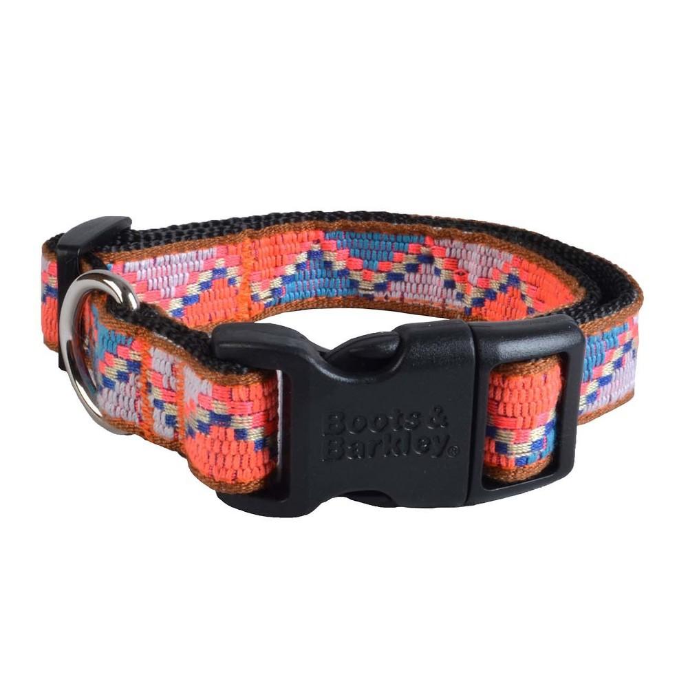 Dog Collar - Jacquard - M - Boots & Barkley, Black Blue Pink