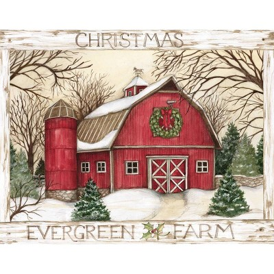 18ct Evergreen Farm Holiday Boxed Cards