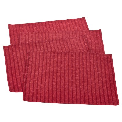 (Set of 4)Rouge Rorie Classic Design Placemat 14 x20  - Saro Lifestyle®