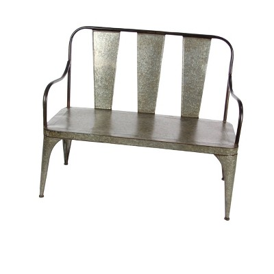 Metal Garden Bench - Olivia & May