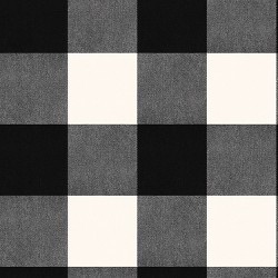 Devine Color Buffalo Plaid Peel And Stick Wallpaper Black/Ivory