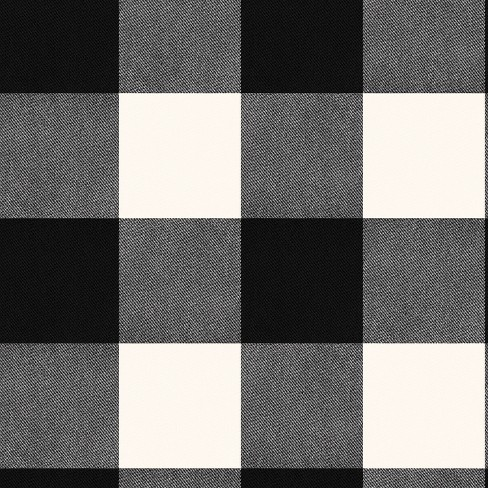 Devine Color Buffalo Plaid Peel And Stick Wallpaper Black/Ivory - image 1 of 4