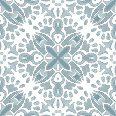 RoomMates Amalfi Peel & Stick Floor Tiles Green